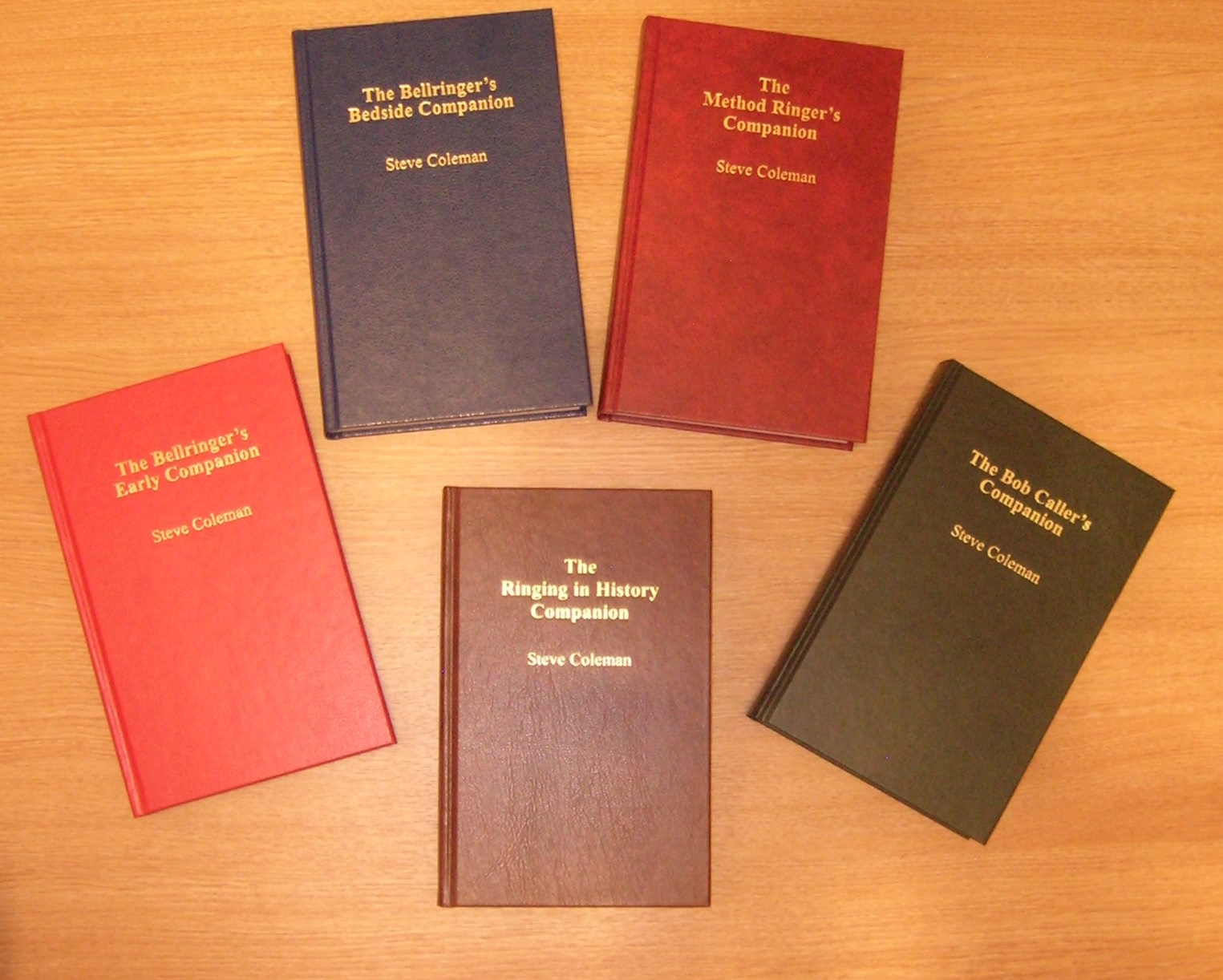 Picture of the five bell ringing books: